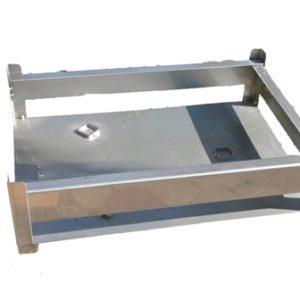 Bâti inox 70×50 cm